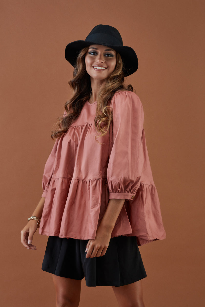 Blouse with balloon sleeve FW20