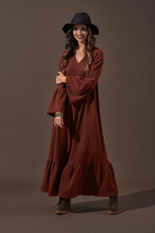 Long dress with frill Natal20