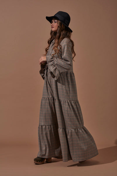 Long Christmas Plaid Dress20