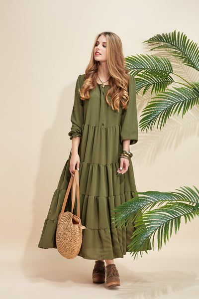 Long dress with frills FW20