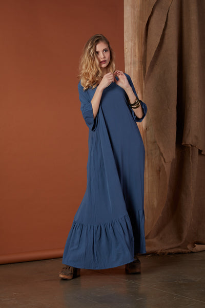Dress with frill