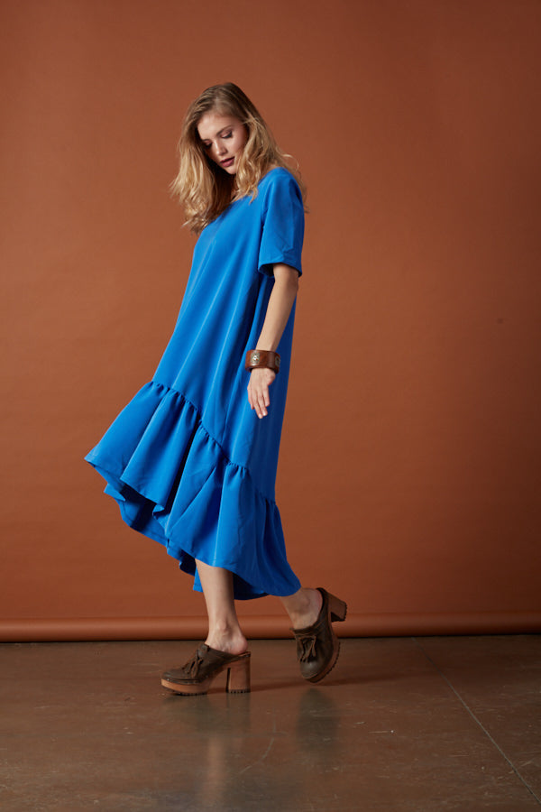 Asymmetrical frill dress