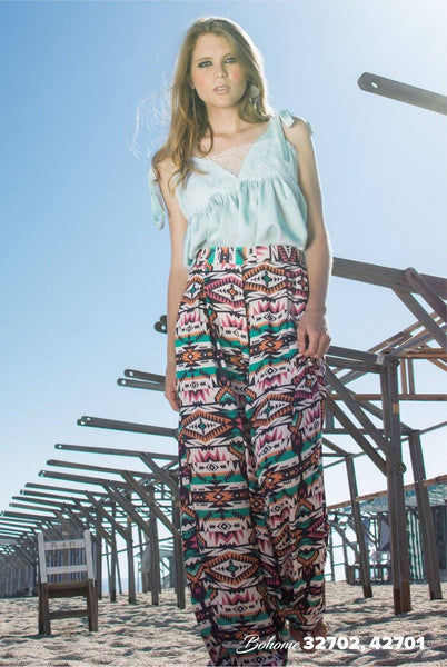 Ethnic print trousers