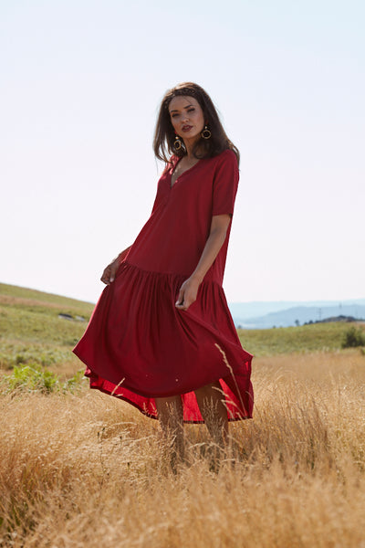 Dress with frill PF19