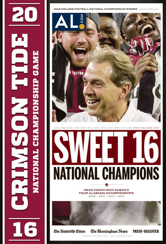 2016 Alabama National Championship Poster