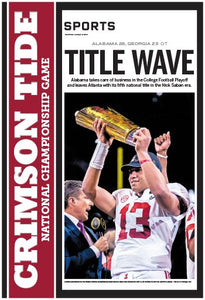 2018 Alabama National Championship Poster