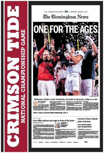2018 Alabama Championship front page
