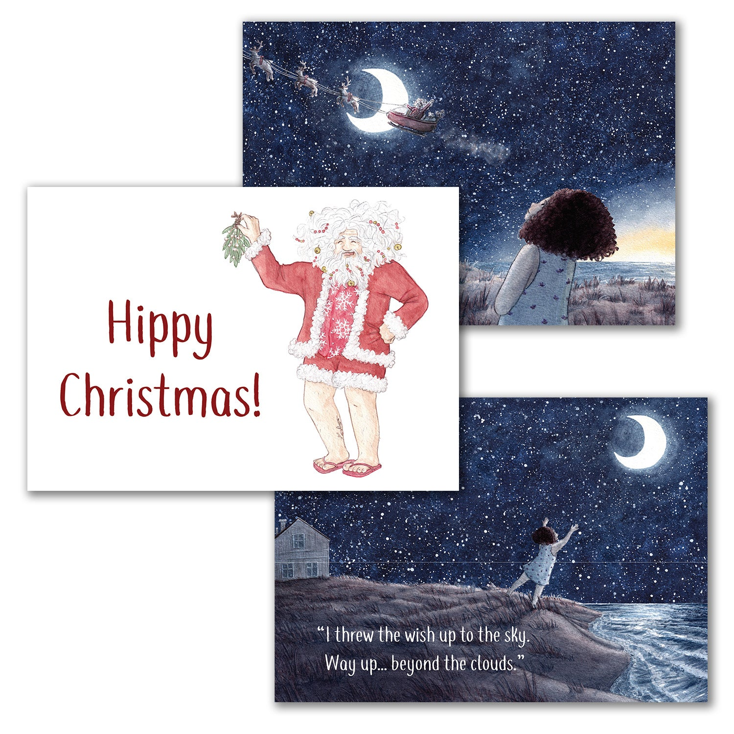 "Christmas cards - ""Cold Toes at Christmas"""