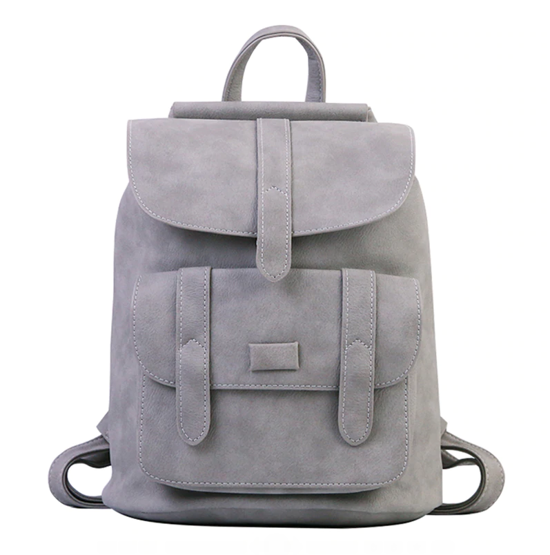 Bags-Vegan Leather Vintage Backpack by Toposhine for a Woman's Vegan Lifestyle-VeganSnatched.com