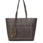 Bags-Vegan Leather Bag with Tassel by Tinkin for a Woman`s Vegan Lifestyle-VeganSnatched.com