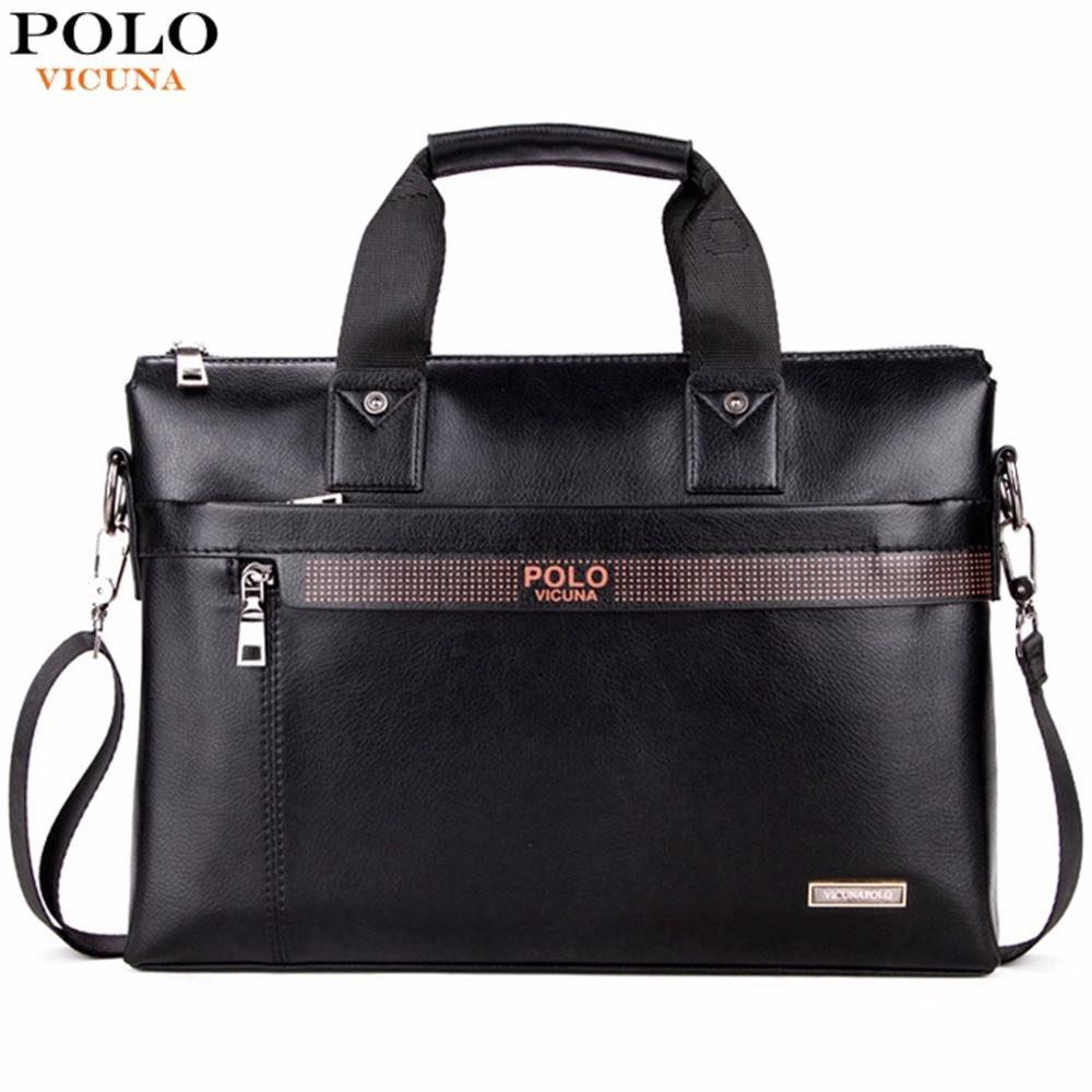 Bags-Vegan Leather Briefcase Bag for Men by Polo Vicuna for a Vegan Man's Lifestyle-VeganSnatched.com