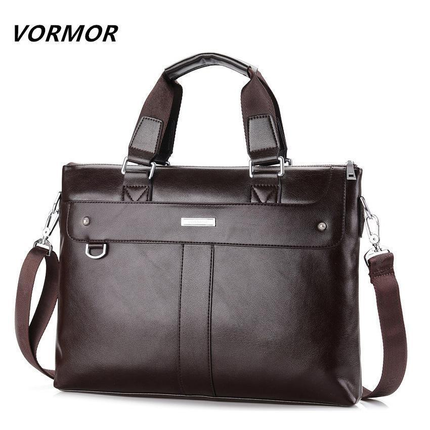 Bags-Vegan Leather Business Briefcase Shoulder Bag by Vormor for a Man's Vegan Lifestyle-VeganSnatched.com
