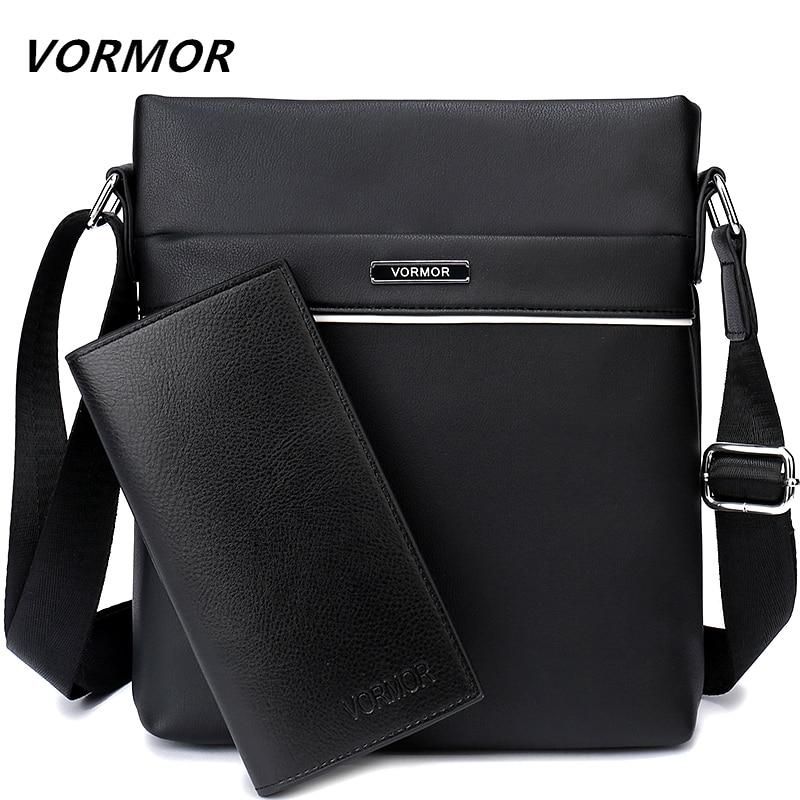 Bags-Vegan Leather Business Crossbody Bag by Vormor for a Man's Vegan Lifestyle (+ FREE Wallet)-VeganSnatched.com