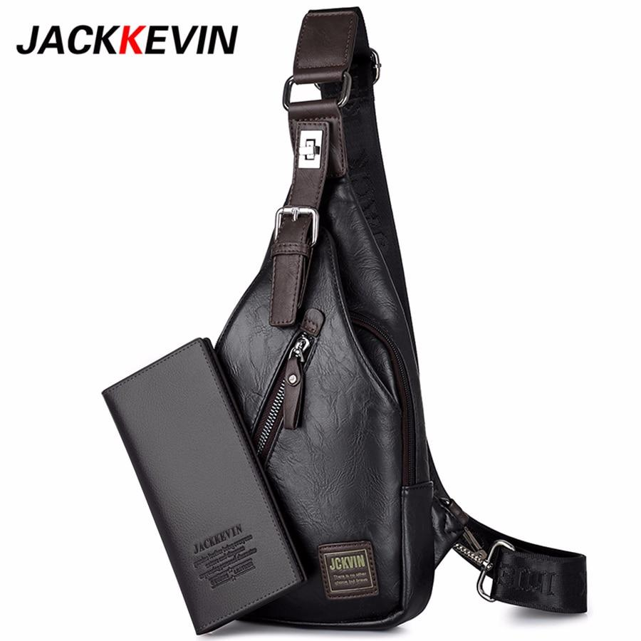 Bags-Vegan Leather Crossbody Theftproof Bag by JackKevin for a Man's Vegan Lifestyle (+ FREE Wallet)-VeganSnatched.com