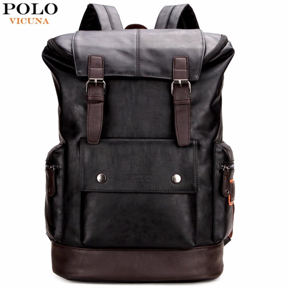 Bags-Vegan Leather Large Capacity Backpack by Polo Vicuna for a Man's Vegan Lifestyle-VeganSnatched.com