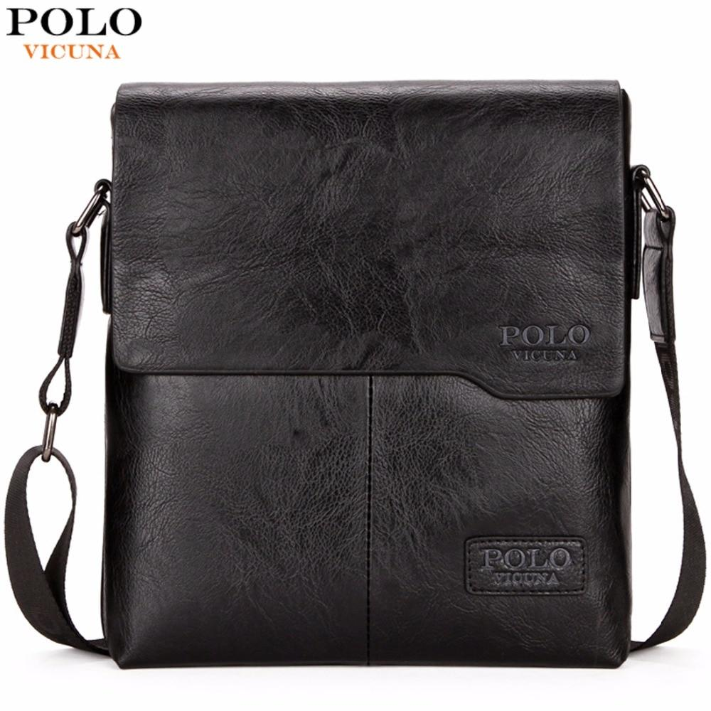 Bags-Vegan Leather Shoulder Bag for Men by Polo Vicuna for a Man's Vegan Lifestyle-VeganSnatched.com