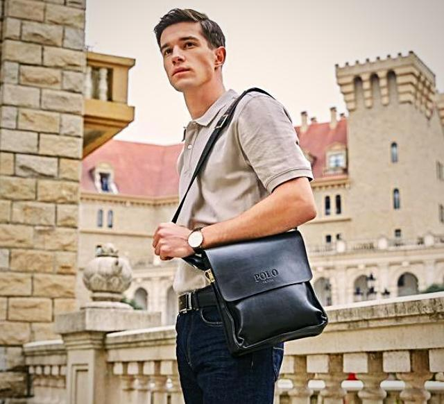 Bags-Vegan Leather Vintage Crossbody Messenger Bag by Polo Vicuna for a Man's Vegan Lifestyle-VeganSnatched.com