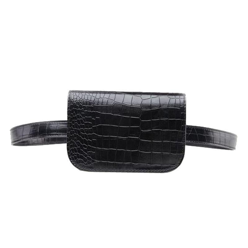 Bags-Vegan Leather Vintage Fake Alligator S/L Waist Bag for a Woman's Vegan Lifestyle-VeganSnatched.com