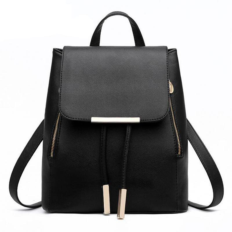 Bags-PU Leather Backpack by Herald Fashion for a Woman's Vegan Lifestyle