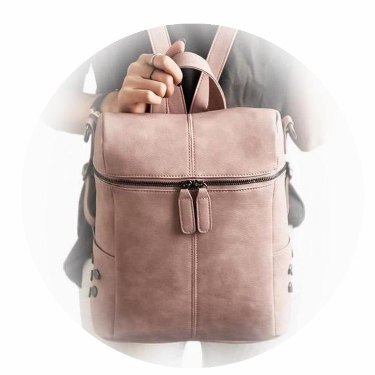 Bags-Vegan Leather Backpack by Luxy Moon for a Woman's Vegan Lifestyle-VeganSnatched.com