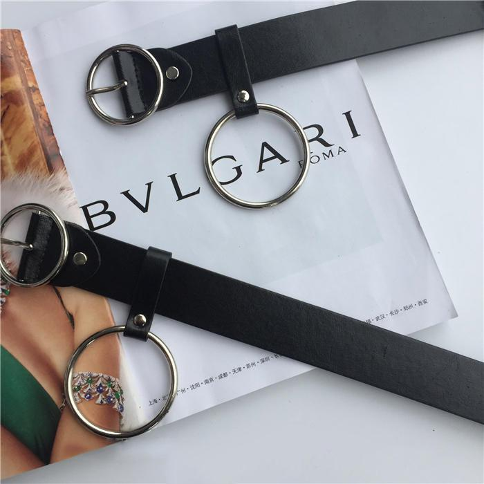 Belts-PU Leather Metal Hoop O-Ring Belt for a Woman's Vegan Lifestyle