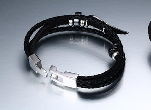 Bracelets-PU Leather Angel Wings Bracelet for any Vegan Lifestyle