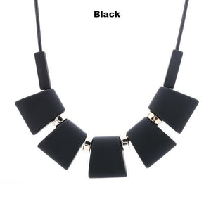 Necklaces-black-Colorful Wooden Beaded Pendant & Necklace for a Woman's Vegan Lifestyle