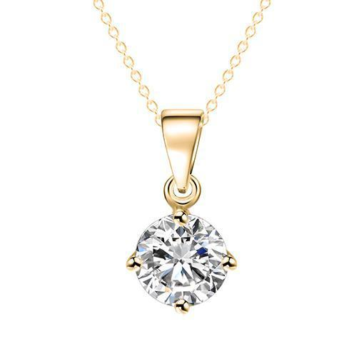 Necklaces-gold-Cubic Zirconia Pendant Classic Necklace for a Woman's Vegan Lifestyle