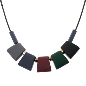 Necklaces-Colorful Wooden Beaded Pendant & Necklace for a Woman's Vegan Lifestyle