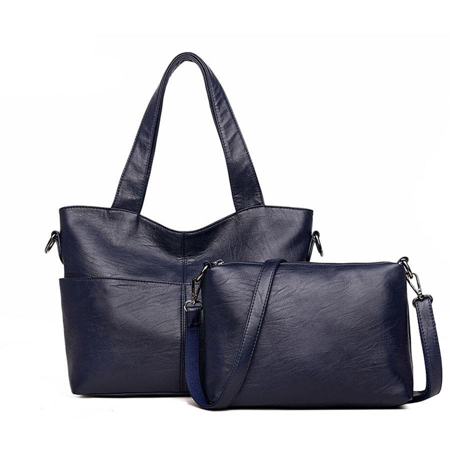 Bags-Vegan Leather 2 Piece Bag Set by Zocilor for a Woman's Vegan Lifestyle-VeganSnatched.com