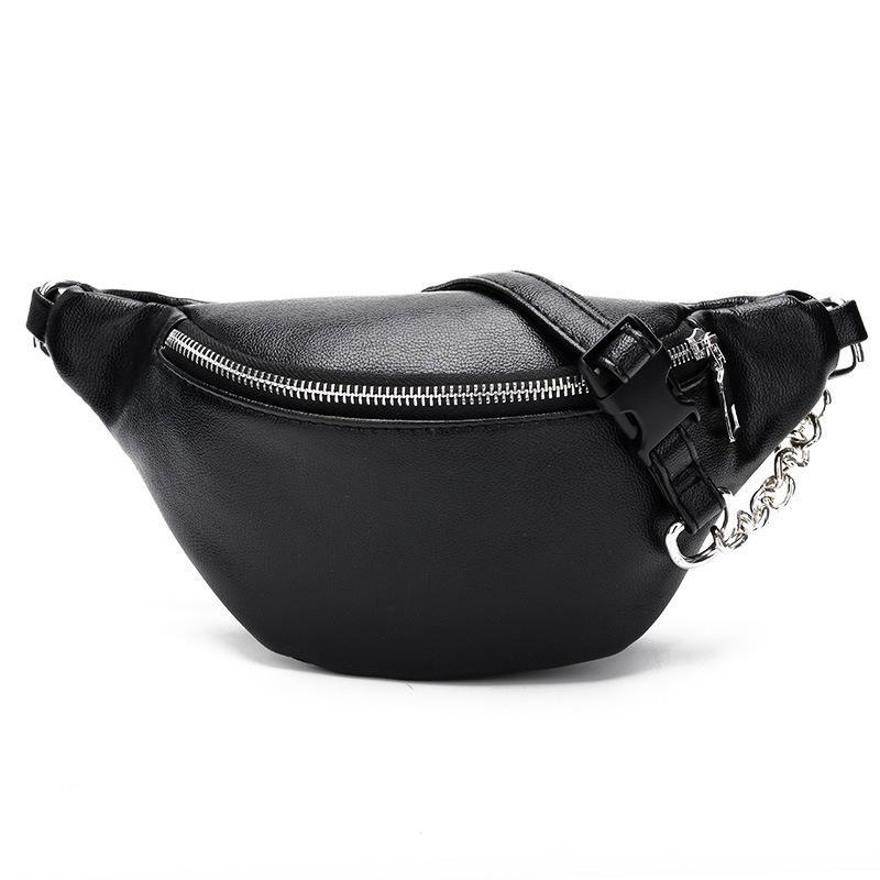 Bags-Black-Vegan Leather Waist Bag by Wholikess for a Woman's Vegan Lifestyle-VeganSnatched.com