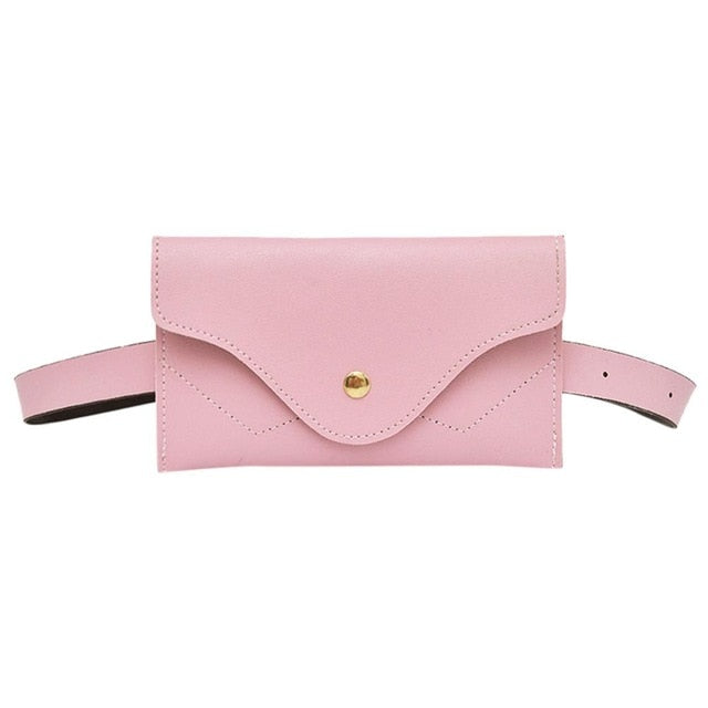 Bags-Pink-Vegan Leather Waist Bag by Mojoyce for a Woman's Vegan Lifestlye-VeganSnatched.com
