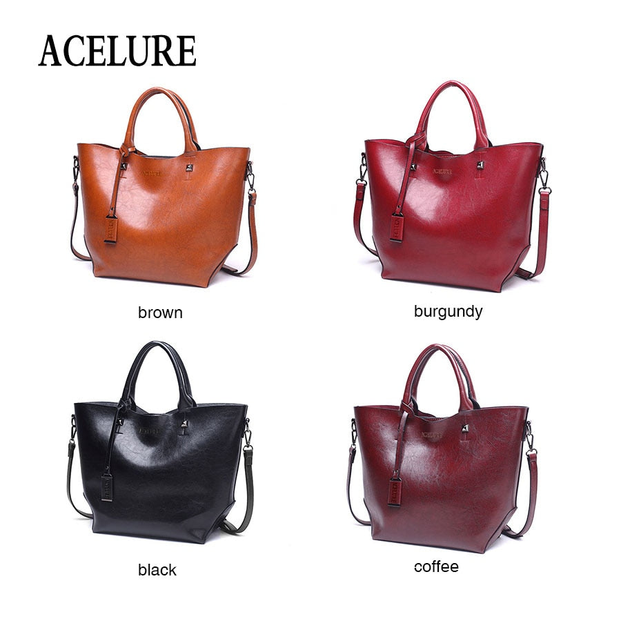 Oil Wax Bucket Bag by Acelure
