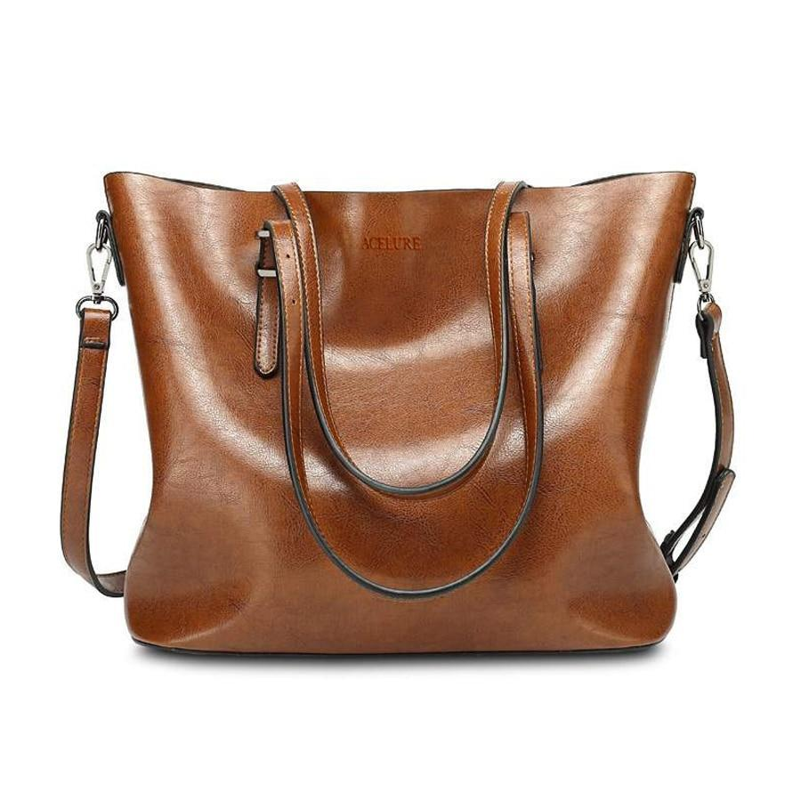 Bags-Vegan Leather Tote Messenger Bag by Acelure for a Woman's Vegan Lifestyle-VeganSnatched.com