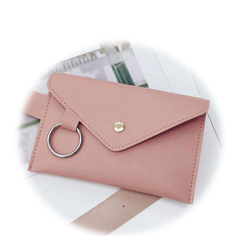 Bags-Vegan Leather Waist Bag with Metal Ring for a Woman's Vegan Lifestyle-VeganSnatched.com