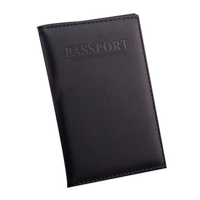Wallets-Black-PU Leather Passport/ID Wallet by Petrichor for any Vegan Lifestyle