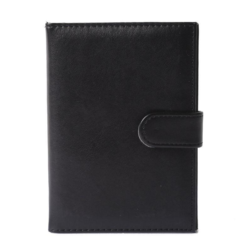 Wallets-Black-PU Leather Passport/ID Wallet for any Vegan Lifestyle