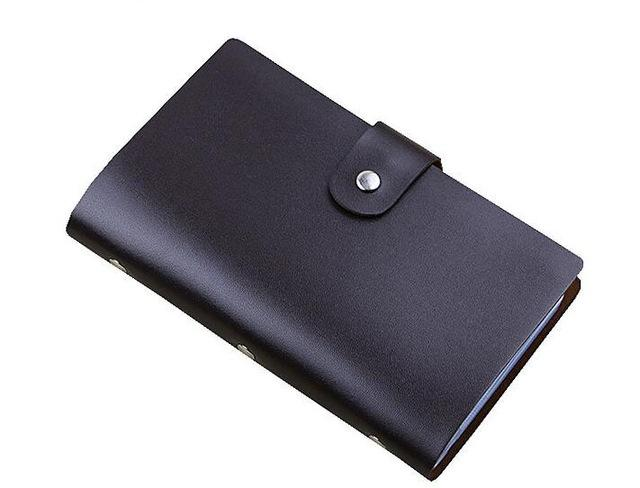 Wallets-coffee-PU Leather 156 Credit Card Holder for any Vegan Lifestyle