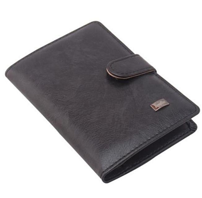Wallets-Dark Gray-PU Leather Passport/ID & Credit Card Wallet for any Vegan Lifestyle