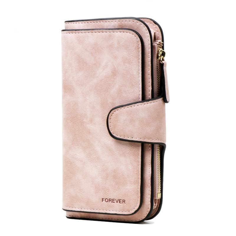 Wallets-PU Leather Forever Long Zipper Wallet for a Woman's Vegan Lifestyle
