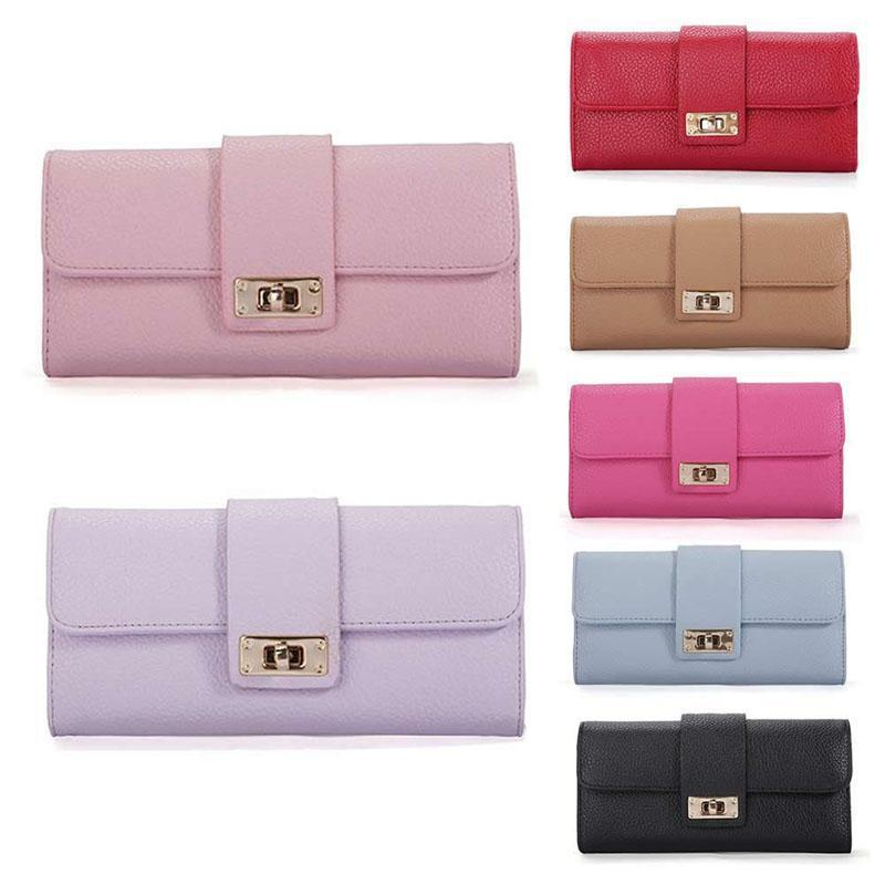 Wallets-PU Leather Long Wallet for a Woman's Vegan Lifestyle