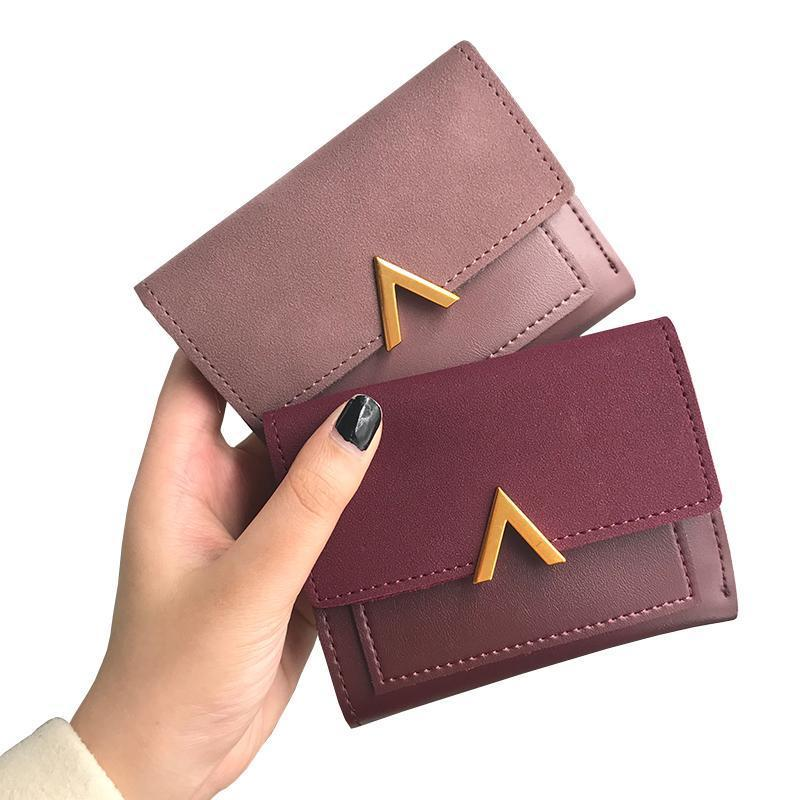 "Wallets-PU Leather Mini ""V"" Credit Card Holder for a Woman's Vegan Lifestyle"
