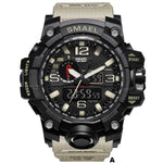Watches-a-PU Leather Analog/LED Sports Watch by Smael for a Man's Vegan Lifestyle