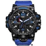 Watches-b-PU Leather Analog/LED Sports Watch by Smael for a Man's Vegan Lifestyle