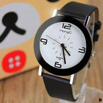Watches-b-PU Leather Modern Watch by HongC for a Woman's Vegan Lifestyle