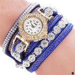 Watches-b-PU Leather Multi-layer Rhinestone Bracelet Watch for a Woman's Vegan Lifestyle