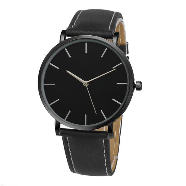 Watches-Black-PU Leather Casual Watch for any Vegan Lifestyle