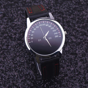 Watches-Black-PU Leather Luxury Analog Watch for a Man's Vegan Lifestyle