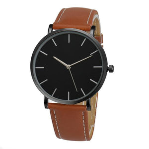 Watches-Brown-PU Leather Casual Watch for any Vegan Lifestyle