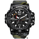 Watches-c-PU Leather Analog/LED Sports Watch by Smael for a Man's Vegan Lifestyle